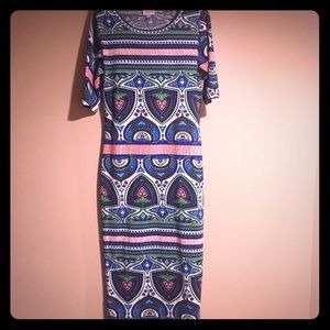 Lularoe Julia pencil dress *rare* pattern print